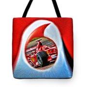 Michael Schumacher Though The Logo Tote Bag