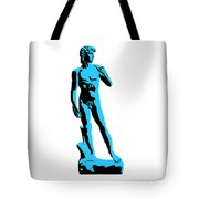 Michelangelos David - Stencil Style Tote Bag by Pixel Chimp