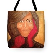 Michelle Obama Tote Bag by Ginnie McKnight