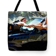 Michelle Rodriguez And Vin Diesel @ Fast To Furious Tote Bag