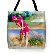 Michelle Wie Plays A Shot On The 6th Hole Tote Bag