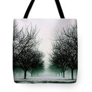 Michigan Cherry Trees In Winter Tote Bag
