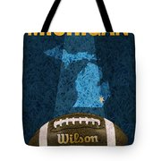 Michigan Football Poster Tote Bag