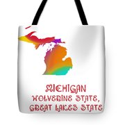 Michigan State Map Collection 2 Tote Bag