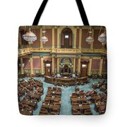 Michigan State Senate From Above  Tote Bag