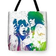 Mick Jagger And Keith Richards Tote Bag