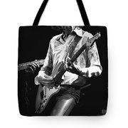 Mick In Flight 1977 Tote Bag