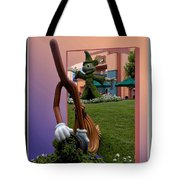 Mickey And Broom Floral Walt Disney World Hollywood Studios Tote Bag