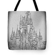 Mickey And Walt At The Park Tote Bag