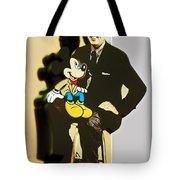 Mickey And Walt Tote Bag