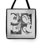 Mickey In Black And White Tote Bag