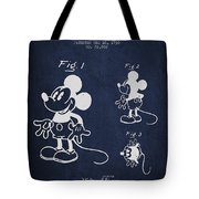 Mickey Mouse Patent Drawing From 1930 Tote Bag by Aged Pixel