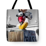 Mickey On A Post Tote Bag
