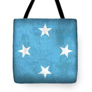 Micronesia Flag Vintage Distressed Finish Tote Bag