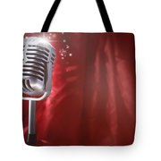 Microphone Tote Bag by Les Cunliffe