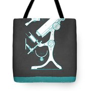 Microscope Patent From 1886  - Gray Turquoise Tote Bag