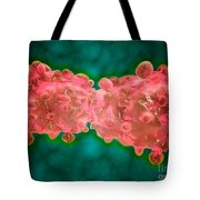 Microscopic View Of A Leukemia Cell Tote Bag