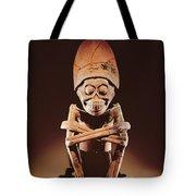 Mictlantecuhtli Lord Of Mictlan Remojadas Style, From Los Cerros, Tierra Blanca, Vera Cruz Pottery Tote Bag