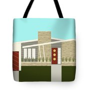 Mid Century Modern House 3 Tote Bag by Donna Mibus