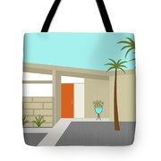 Mid Century Modern House 1 Tote Bag by Donna Mibus