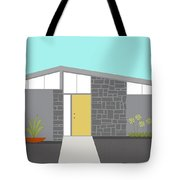 Mid Century Modern House 2 Tote Bag by Donna Mibus