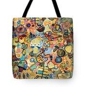 Mid Century Mushroom Madness Tote Bag