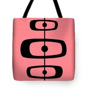 Mid Century Shapes 2 On Pink Tote Bag
