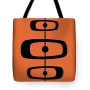 Mid Century Shapes 2 On Orange Tote Bag