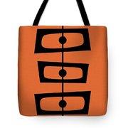 Mid Century Shapes On Orange Tote Bag