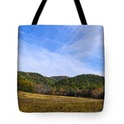 Mid-morning Panorama At Cades Cove Tote Bag