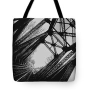 Mid Span  In Black And White Tote Bag