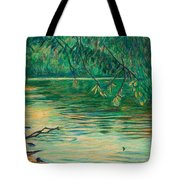 Mid-spring On The New River Tote Bag