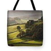 Mid Wales Autumn Landscape Tote Bag