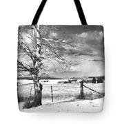 Mid-winter Moonlight Tote Bag by Theresa Tahara