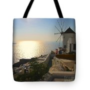 Midday On Santorini Tote Bag