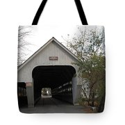 Middle Bridge Back Woodstock Vermont Tote Bag