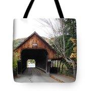 Middle Bridge Front Woodstock Vermont Tote Bag