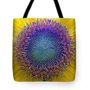 Middle Of Sunflower Close-up Tote Bag