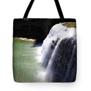 Middle Waterfalls In Letchworth State Park II Tote Bag