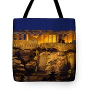 Midnight At The Acopolis Tote Bag