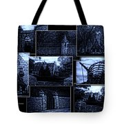 Midnight At The Prison Collage Tote Bag
