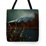 Midnight Blue In The Mountains Tote Bag