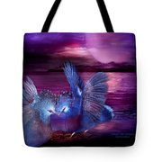 Midnight Blue Rendevous Tote Bag