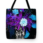 Midnight Callas And Orchids Abstract Tote Bag
