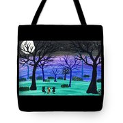 Midnight Cat Gathering Tote Bag