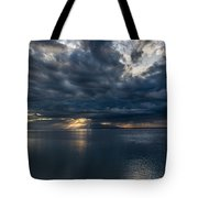 Midnight Clouds Over The Water Tote Bag