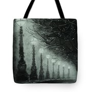 Midnight Dreary Tote Bag by Carla Carson
