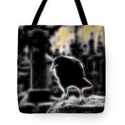 Midnight Glow Crow Tote Bag