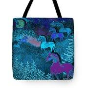 Midnight Horses Tote Bag