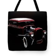 Midnight Hot Rod Red Tote Bag